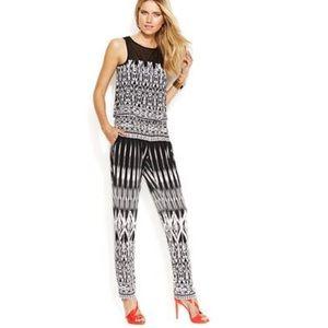 INC International Concepts Ikat Print Jumpsuit